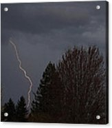 Lightning Over Grants Pass Acrylic Print