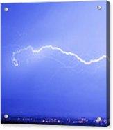 Lightning Over North Boulder Colorado  Ibm Acrylic Print