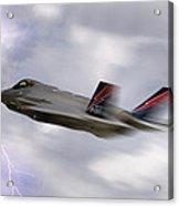 Lightning Speed Acrylic Print by Peter Chilelli