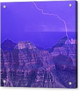 Lightning Storm North Rim Grand Canyon National Park Arizona Acrylic Print