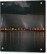 Lightning Storm Pano Work A Acrylic Print