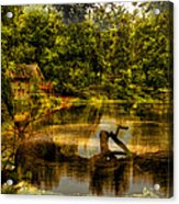 Lightning Strike By The Nature Center Merged Image Acrylic Print