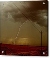 Lightning Strike In Oil Country Acrylic Print