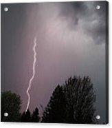 Lightning Strike Over Grants Pass Acrylic Print