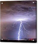 Lightning Strikes Following The Rain  Acrylic Print