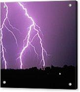 Lightning Striking During A Storm Acrylic Print