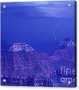 Lightning Strkes At The North Rim Grand Canyon National Park Acrylic Print