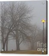 Lights And Fog Setting The Mood Acrylic Print