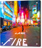Lights Are Bright On Broadway - Times Square Acrylic Print
