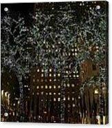 Lights In Rockefeller Center Acrylic Print