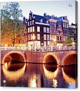 Lights Of Amsterdam Acrylic Print