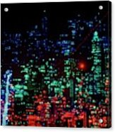 Lights Of New York City Acrylic Print