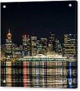 Lights Of Vancouver Acrylic Print
