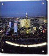 Lights Of Vegas Acrylic Print