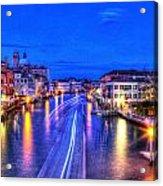 Lights On The Canal Acrylic Print