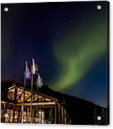 Lights Over Princess Denali Lodge Acrylic Print