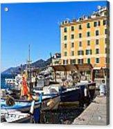 Liguria - Harbor In Camogli Acrylic Print
