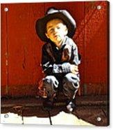 Lil Cowboy Afternoon Acrylic Print