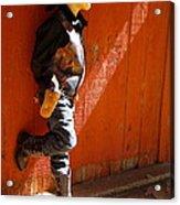 Lil Cowboy In Sun Acrylic Print