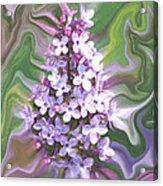 Lilac Abstract Acrylic Print