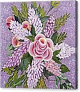 Lilac And Rose Bouquet Acrylic Print
