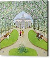 Lilac Arbour Oil On Board Acrylic Print