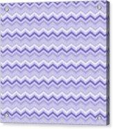 Lilac Chevron Acrylic Print