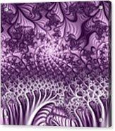 Lilac Fractal World Acrylic Print
