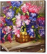 Rustic Lilac Acrylic Print
