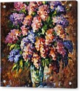 Lilac - Palette Knife Oil Painting On Canvas By Leonid Afremov Acrylic Print