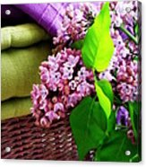 Lilac Still Life Acrylic Print by Lainie Wrightson