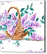 Lilac Vintage Impressionism Painting Acrylic Print