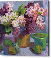 Lilacs And Pears Acrylic Print