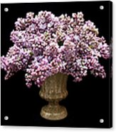 Lilacs In A Green Vase - Flowers - Spring Bouquet Acrylic Print
