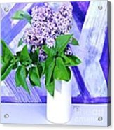 Lilacs With Abstract Acrylic Print