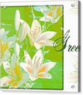 Lilies Greeting Card Acrylic Print