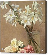 Lilies In A Vase Acrylic Print