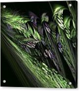 Lilies Of The Fractal Valley Acrylic Print