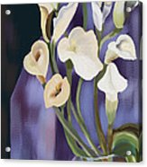 Lilies Acrylic Print by Sydne Archambault