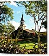 Liliuokalani Church - Haleiwa Hawaii Acrylic Print