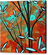 Lilly Pulitzer Inspired Abstract Art Colorful Original Painting Spring Blossoms By Madart Acrylic Print