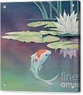 Lily And Koi Acrylic Print