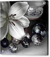 Lily And Marbles Acrylic Print