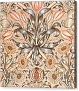 Lily And Pomegranate Wallpaper Design Acrylic Print by William Morris