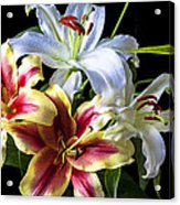 Lily Bouquet Acrylic Print by Garry Gay