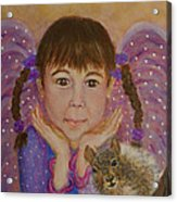 Lily Isabella Little Angel Of The Balance Between Giving And Receiving Acrylic Print