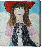 Lily Little Angel Of Self Empowerment Acrylic Print by The Art With A Heart By Charlotte Phillips