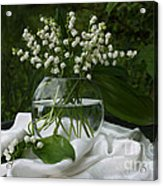 Lily-of-the-valley Bouquet Acrylic Print by Luv Photography