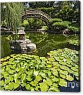Lily Pad Garden - Japanese Garden At The Huntington Library. Acrylic Print