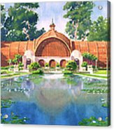 Lily Pond And Botanical Garden Acrylic Print by Mary Helmreich
